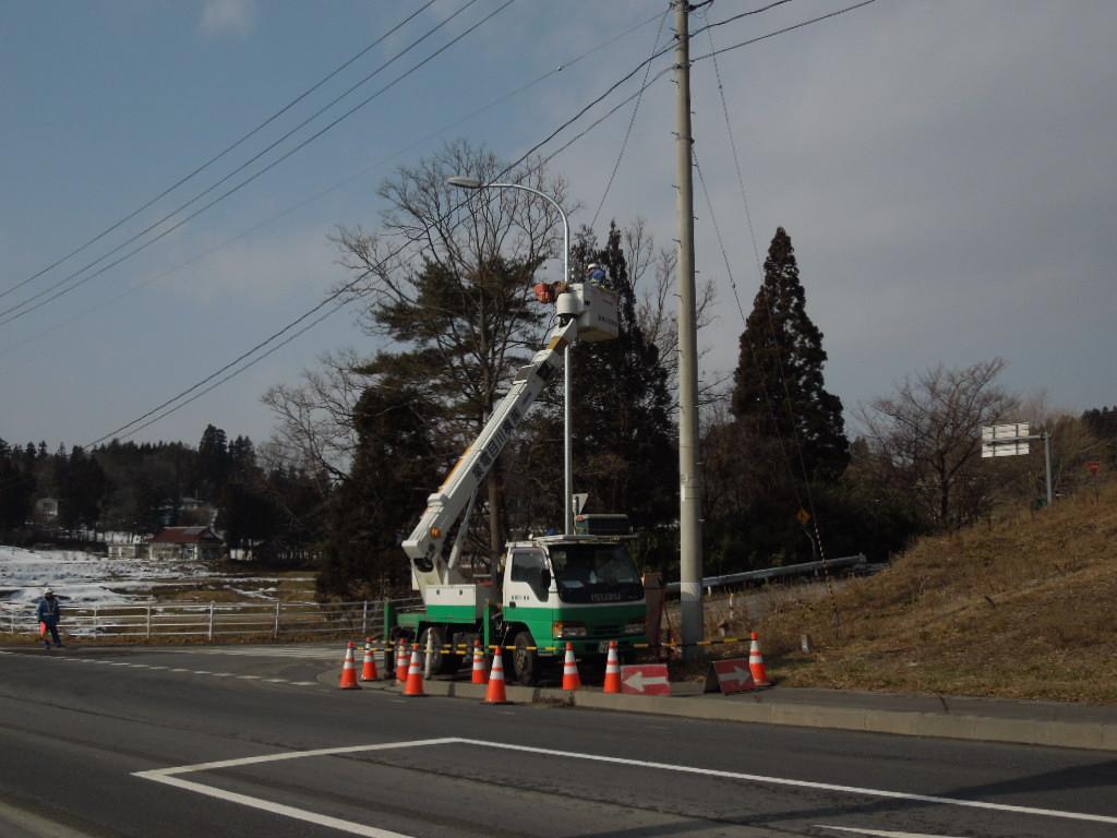 主要地方道一関大東線ほか山根地区ほか道路照明設備更新工事